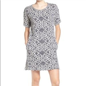 Dee Elle Navy And Beige Tunic Dress